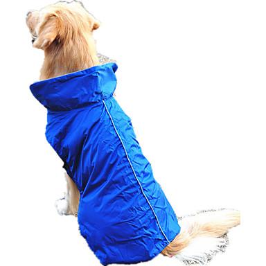 كلب سترة ملابس الكلاب مقاومة الماء صلب برتقالي أصفر فوشيا أحمر أزرق كوستيوم للحيوانات الأليفة