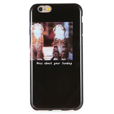 Voor apple iphone 7 plus 7 case cover patroon achterhoes case kat woord / zin soft tpu i 6s plus 6 plus e 6s 6