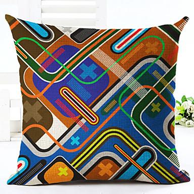 1 Stück Leinen Kissenbezug,Geometrisch Modern/Zeitgenössisch Modern