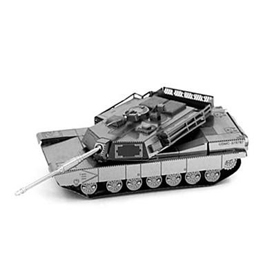Jucării pentru mașini Puzzle 3D Puzzle Puzzle Metal Instrumente de jucărie Jucarii Dreptunghiular Rezervor Castel Clădire celebru