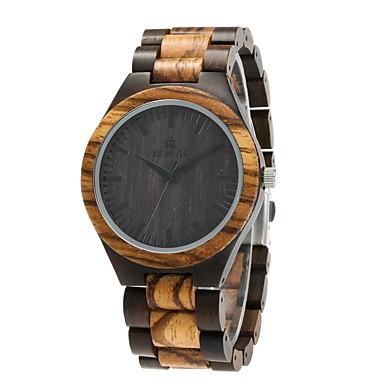 Herrn Uhr Holz Japanisch Quartz hölzern Holz Band Luxus Elegant Schwarz Braun