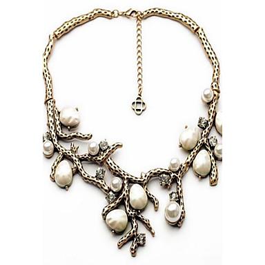 Damen Ketten Imitierte Perlen Strass Linienform Baum des Lebens Aleación Personalisiert Luxus Retro Modisch Einstellbar Schmuck Für