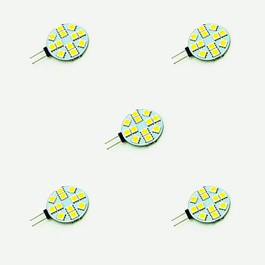 2W G4 Becuri LED Bi-pin 12 led-uri SMD 5050 Alb Cald Alb 189lm 3000-3500/6000-6500K DC 12V