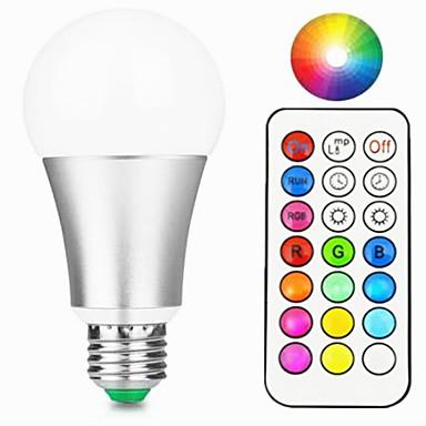 12W 800-900 lm E27 Bulbi LED Inteligenți A60(A19) 15 led-uri LED Integrat Intensitate Luminoasă Reglabilă Telecomandă Decorativ Alb Cald