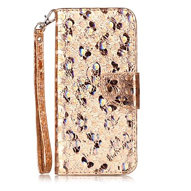Hülle Für Samsung Galaxy S8 Plus S8 Kreditkartenfächer Flipbare Hülle Muster Ganzkörper-Gehäuse Schmetterling Glänzender Schein Hart