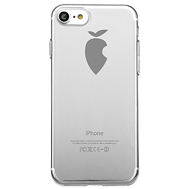 غطاء من أجل Apple شفاف نموذج غطاء خلفي اللعب بشعار آبل ناعم TPU إلى iPhone 7 Plus iPhone 7 iPhone 6s Plus iPhone 6 Plus iPhone 6s iPhone