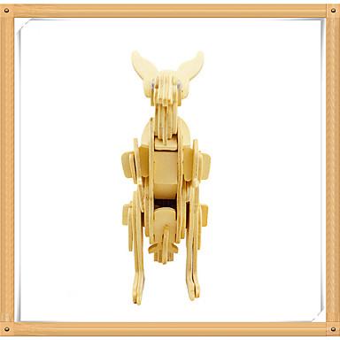 3D - Puzzle Holzpuzzle Holzmodell Modellbausätze Spielzeuge Känguru Tier 3D Tiere Heimwerken Hölzern Holz keine Angaben Stücke