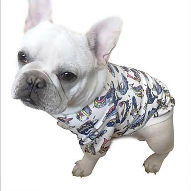 Hund T-shirt Hundekleidung Tier Baumwolle Kostüm Für Haustiere Sommer Herrn Damen Lässig / Alltäglich