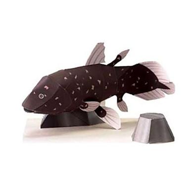قطع تركيب3D نموذج الورق أشغال الورق مجموعات البناء سمك حيوان الحيوانات محاكاة اصنع بنفسك كلاسيكي للأطفال للجنسين هدية