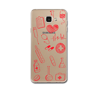 Hülle Für Samsung Galaxy A5(2017) A3(2017) Transparent Muster Rückseitenabdeckung Herz Weich TPU für A3 (2017) A5 (2017) A7 (2017) A8