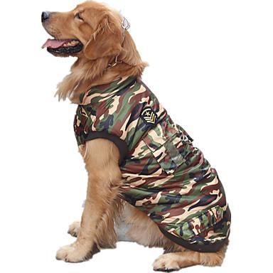 كلب سترة ملابس الكلاب كاجوال/يومي Police/Military تمويه اللون