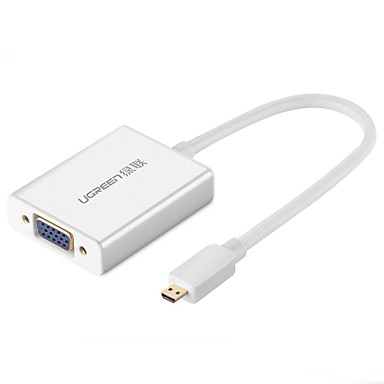 UGREEN HDMI Micro Adapter, HDMI Micro to VGA 3,5 mm Audio Jack Adapter Male - Female 0,15m (0.5Ft)