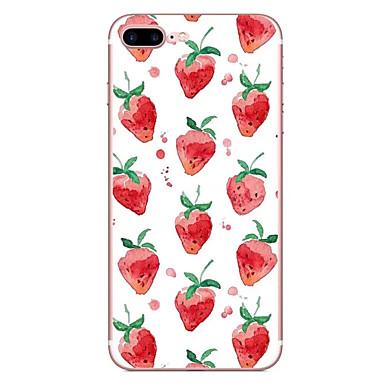 Caz pentru Apple iPhone 7 7 plus capac de acoperire căpșuni hd pictat tpu material caz moale caz telefon pentru iphone 6s 6 plus