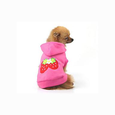 Câine Hanorace cu Glugă Hanorca Îmbrăcăminte Câini Casul/Zilnic Fruct Costume Pentru animale de companie