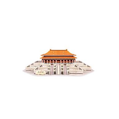قطع تركيب3D تركيب بناء مشهور الزراعة الصينية معمارية 3D مواد تأثيث خشبي استايل صيني للجنسين هدية