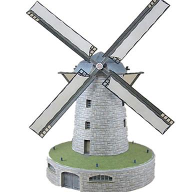 3D-puzzels Windmolen Papierkunst Windmolen Beroemd gebouw Architectuur Simulatie DHZ Hard Kaart Paper Klassiek Kinderen Jongens Unisex