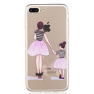 Voor iphone 7plus 7 telefoon hoesje tpu materiaal meisje patroon geverfde telefoon hoesje 6s plus 6plus 6s 6 se 5s 5