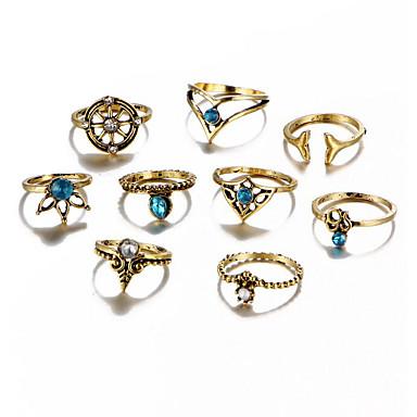 Pentru femei Aliaj - Geometric Shape Vintage Auriu / Argintiu Inel Pentru Zilnic