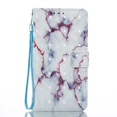 Hülle Für Sony Sony Xperia XA Kreditkartenfächer Geldbeutel mit Halterung Flipbare Hülle Magnetisch Muster Ganzkörper-Gehäuse Marmor Hart