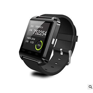 Herrn Damen Smart Uhr Modeuhr digital Wasserdicht Caucho Band Schwarz Weiß Rot