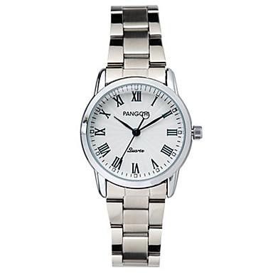 Damen Armbanduhr Quartz Wasserdicht Legierung Band Silber
