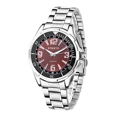 Bărbați Ceas Elegant  Ceas La Modă Quartz cald Vânzare Oțel inoxidabil Bandă Casual Argint