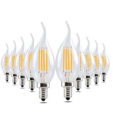 YWXLIGHT® 4W 300-400 lm E12 LED-kaarslampen CA35 4 leds COB Dimbaar Decoratief Warm wit AC 110-130V