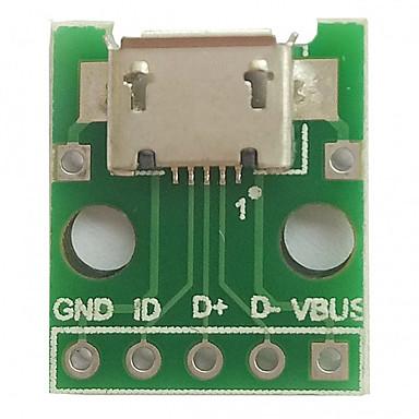 Micro usb tot dip (2,54mm) vrouwelijke b-type microfoon chip adapter board