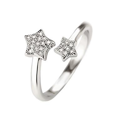 Dames Statementringen Ring manchet Ring Vintage Tekojalokivi Modieus Verstelbaar Koper Ster Sieraden Bruiloft Feest Verloving Lahja