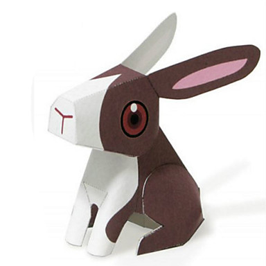 3D-puzzels Bouwplaat Papierkunst Modelbouwsets Rabbit Cirkelvormig Dieren Simulatie DHZ Klassiek Kinderen Unisex Geschenk