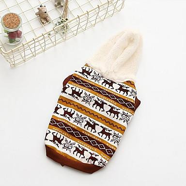 كلب هوديس ملابس الكلاب دافئ متنفس كاجوال/يومي حيوان أصفر أحمر كوستيوم للحيوانات الأليفة