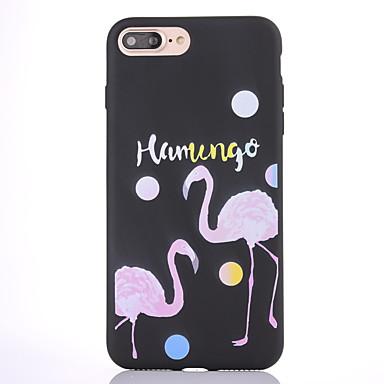 Für Hüllen Cover Mattiert Muster Rückseitenabdeckung Hülle Wort / Satz Flamingo Weich TPU für Apple iPhone 7 plus iPhone 7 iPhone 6s Plus