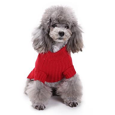 كلب ازياء تنكرية ملابس الكلاب الكوسبلاي الأزهار / النباتية أحمر