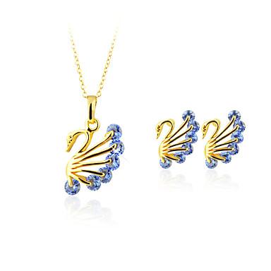 Pentru femei Coliere cu Pandativ Cristal Imitație de Perle Argilă Placat Auriu Animal Aripi / Pene Γεωμετρικά Design Circular Stil