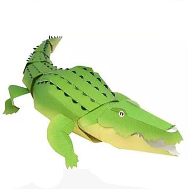 قطع تركيب3D نموذج الورق أشغال الورق مجموعات البناء دائري مربع تمساح الحيوانات اصنع بنفسك كلاسيكي للجنسين هدية