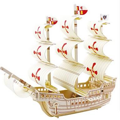 Puzzle 3D Puzzle Modele de Lemn Navă Militară Navă 3D Reparații Lemn Lemn natural Pentru copii Unisex Cadou