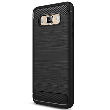 Hülle Für Samsung Galaxy J5 (2016) Mattiert Rückseite Volltonfarbe Weich Kohlefaser für J5 (2016)