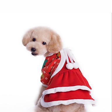 Câine Costume Salopete Îmbrăcăminte Câini Crăciun Bumbac Costume Pentru animale de companie Bărbați Pentru femei Crăciun