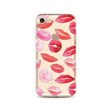 hoesje Voor Apple iPhone X iPhone 8 Plus Transparant Patroon Achterkant Tegel Sexy dame Zacht TPU voor iPhone X iPhone 8 Plus iPhone 8