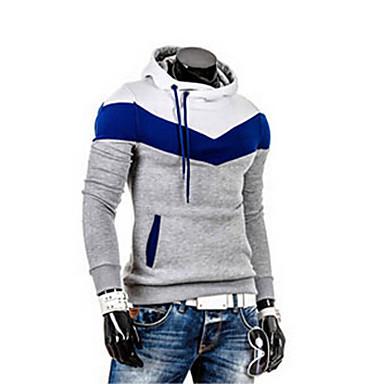 billige Herrers Mode Beklædning-Herre Langærmet Rund hals Sweatshirt - Ensfarvet / Efterår
