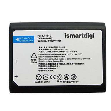 Ismartdigi lpe10 7.4v baterie de camera de 860 mAh pentru canon eos 1100d 1200d 1300d x50 t3