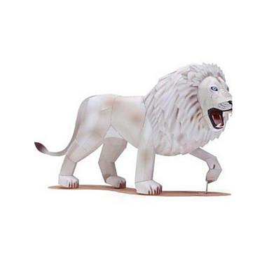 قطع تركيب3D تركيب أشغال الورق مجموعات البناء أسد حيوان الحيوانات مواد تأثيث اصنع بنفسك كلاسيكي للأطفال للجنسين هدية