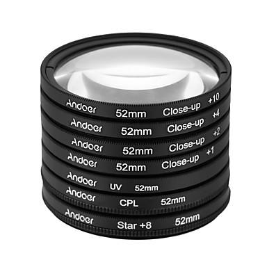 Andoer 52mm uv cpl star8close-up (1 2 4 10) filtru de fotografie ultra-violet circular-polarizator stele 8-point macro filtru de lentile