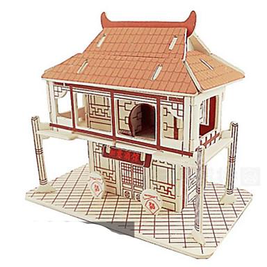 3D-puzzels Metalen puzzels Hout Model Speeltjes Architectuur Natuurlijk Hout Niet gespecificeerd Stuks