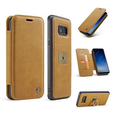 hoesje Voor Samsung Galaxy S8 Plus S8 Portemonnee Kaarthouder Ringhouder Flip Volledige behuizing Effen Kleur Hard Echt leer voor S8 S8