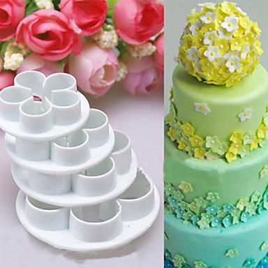 4-delig Cake Moulds 3D Dagelijks gebruik Other Baking Tool