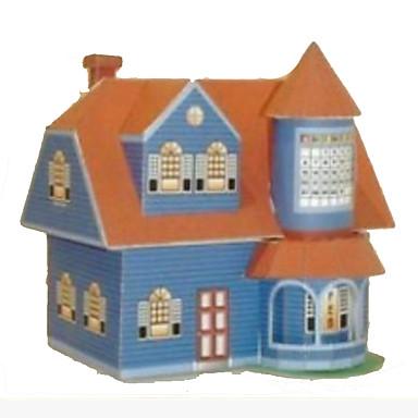 3D-puzzels Bouwplaat Modelbouwsets Papierkunst Speeltjes Vierkant Huis 3D DHZ Hard Kaart Paper Unisex Stuks