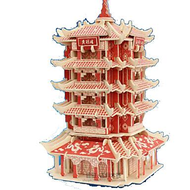 قطع تركيب3D تركيب النماذج الخشبية مجموعات البناء مستطيل قصر بناء مشهور معمارية 3D خشب الخشب الطبيعي للجنسين هدية