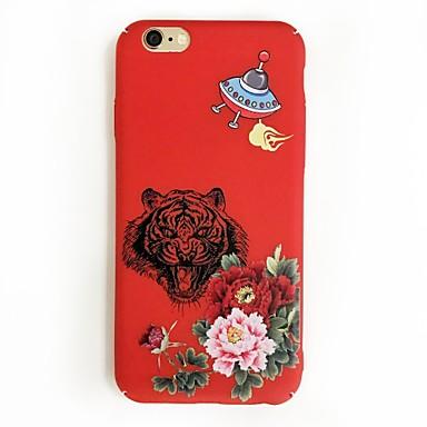 Hülle Für Apple Muster Rückseitenabdeckung Tier Blume Hart PC für iPhone 7 plus iPhone 7 iPhone 6s Plus iPhone 6 Plus iPhone 6s iPhone 6