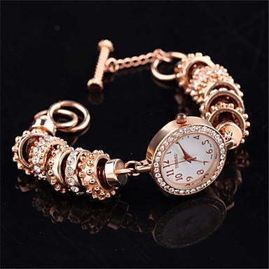 Dames Modieus horloge Kwarts Legering Band Zwart Wit Goud